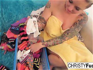 Nick Manning fucks tatted pornographic star Christy