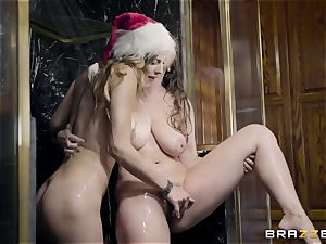 slim cockslut with diminutive mammories Jillian Janson entices her brother's buxomy wifey