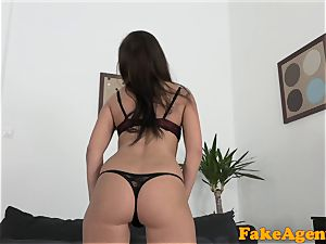 faux Agent smallish brown-haired truly wants audition fuck