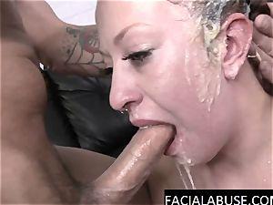 Dumb stripper facehole banged to puke