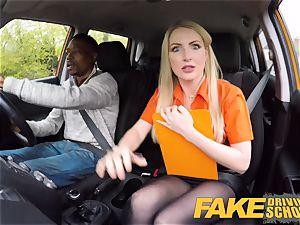 faux Driving school lengthy ebony spear satisfies towheaded