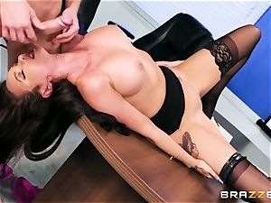 giant boss's helper gets her uber-cute hefty booty screwed by office worker
