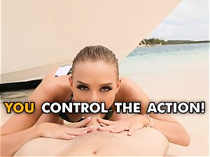 fucking your steaming gf Emma Hix on the beach pov