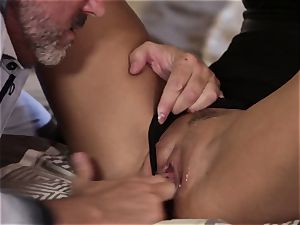 Takers pt 1 - Asa Akira bum rides aged mans giant shaft