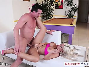 Latina Bridgette B. drilled with her meaty bosoms bouncing