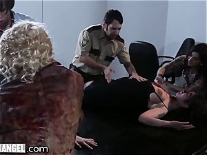 BurningAngel tatted babes steamy Zombie fuck-fest!