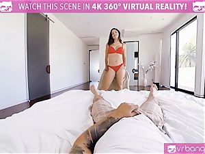 VR porn - buxom Abella Danger audition sofa get naughty