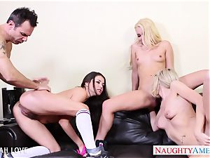 fantastic Aaliyah love humping in four way