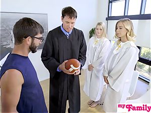 Church honey penetrates step-brother Behind Dads Back! S1:E4