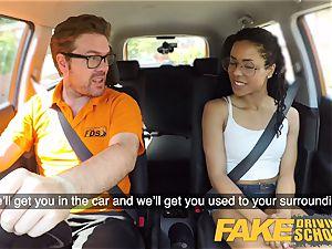 fake Driving school ebony american minx Kira Noir