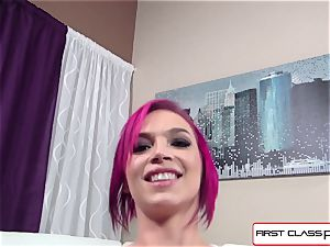 Anna Bell Peaks is plowed by a gigantic hard-on in pov style
