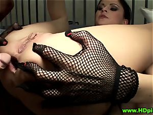 Anastasia Brill gets a double penetration in jail