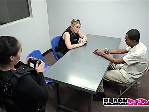 Officer Green makes insane suspect tear up officer Jane rock-hard and deep