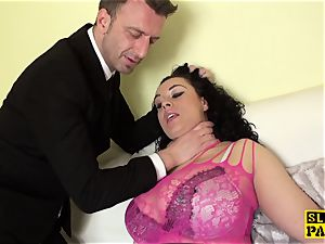 big-boobed brit slave Anastasia Lux doggystyled