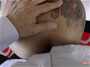 super-fucking-hot dark-hued babe pulverized in the ass in point of view pornography