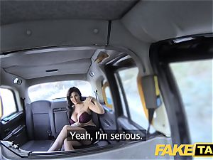 faux taxi Frustrated huge-boobed Candy Sexton