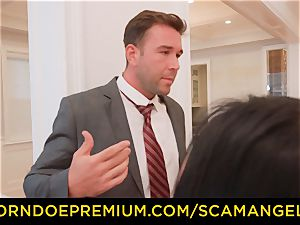 SCAM ANGELS - hot Melissa Moore fucked in insatiable fourway