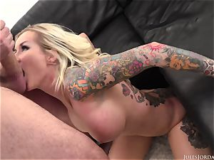 horny humungous breast cougar Jarushka Ross from Czech Republic takes a big man-meat in her deep hatch