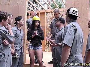 Teanna Trump gets group-fucked on a construction website