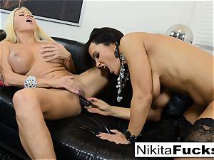 super-steamy Russian Nikita Von James bangs pornography pioneer Lisa Ann