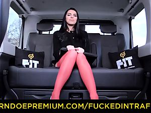 ravaged IN TRAFFIC - busty Russian plumbed on backseat