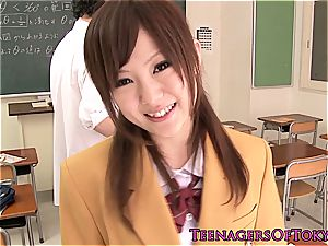 japanese bombshell super-naughty for a meaty dick after college