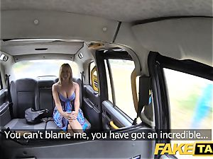 fake taxi Mum with all-natural baps gets ginormous brit spear