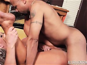 Alura Jenson slammered testicles deep and receives super-steamy super-fucking-hot internal cumshot
