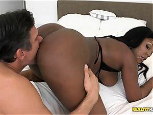 plunging black hottie queen Layton Benton