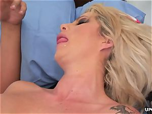 hefty ass nurse has a fuck session with hung physician