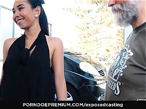 exposed casting - japanese honey luvs scorching FFM threeway