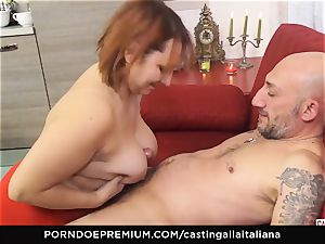 audition ALLA ITALIANA - Italian mature deep ass-fuck boink