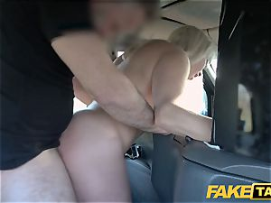 faux cab towheaded milf Victoria Summers fucked in a taxi