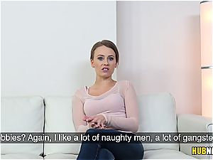 light-haired amateur with immensely high orgy drive on a audition