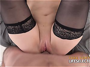 crazy red-haired stunner does rectal in a point of view scene