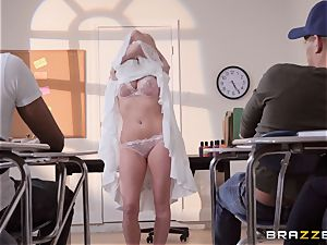 Christie Stevens bent over and poked doggy style