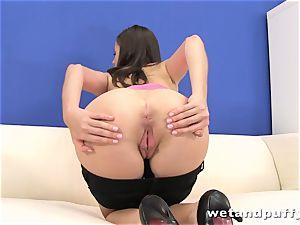 Teeny bi-atch Silvia Luca wants to tease her vagina