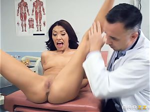 Kara faux medical cunt check up