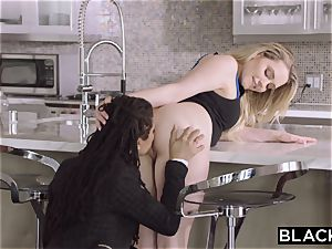 BLACKED dark-hued nymph presents milky dame to big black cock