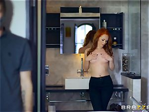 uber-sexy red-haired Ella Hughes pounded by masked guy