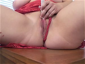 huge-titted wife Vicky Vixen toys poon