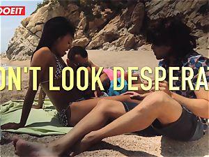 LETSDOEIT - super-fucking-hot dark-hued teenager humped rock-hard At The Beach