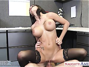 huge-boobed office honey Peta Jensen fucking