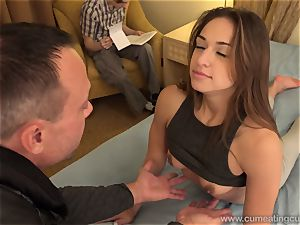 Sara Luvv Cuckolds Her spouse and Makes him blow prick