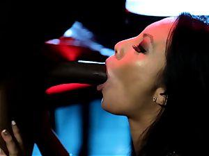 Asa Akira blows one large bbc in disco
