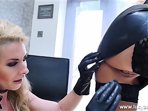 private GG Lapdance with red-hot huge-boobed g/g mummies frolicking