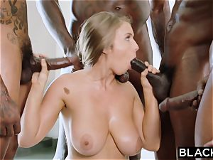 BLACKED Lena Paul very first interracial gangbang