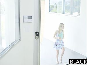 BLACKED petite blonde nubile Rachel James first-ever big dark-hued boner