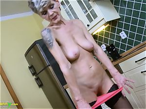 OldNannY horny mature Lusty Solo Showoff Footage