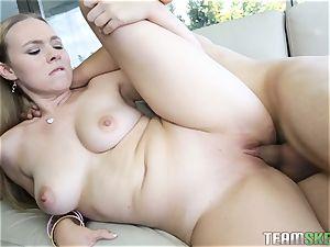 Tiffany Kohl gets her nubile slit injected with spunk